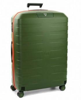 Maleta grande Roncato Box 2.0 Verde/Naranja - 78cm | Maletia.com