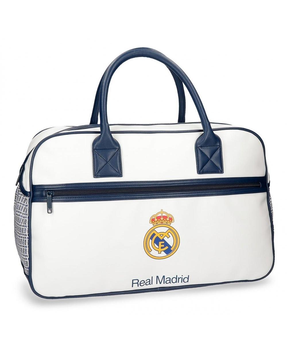 Real Madrid Leyenda Bolsa de Viaje Blanca (Foto )
