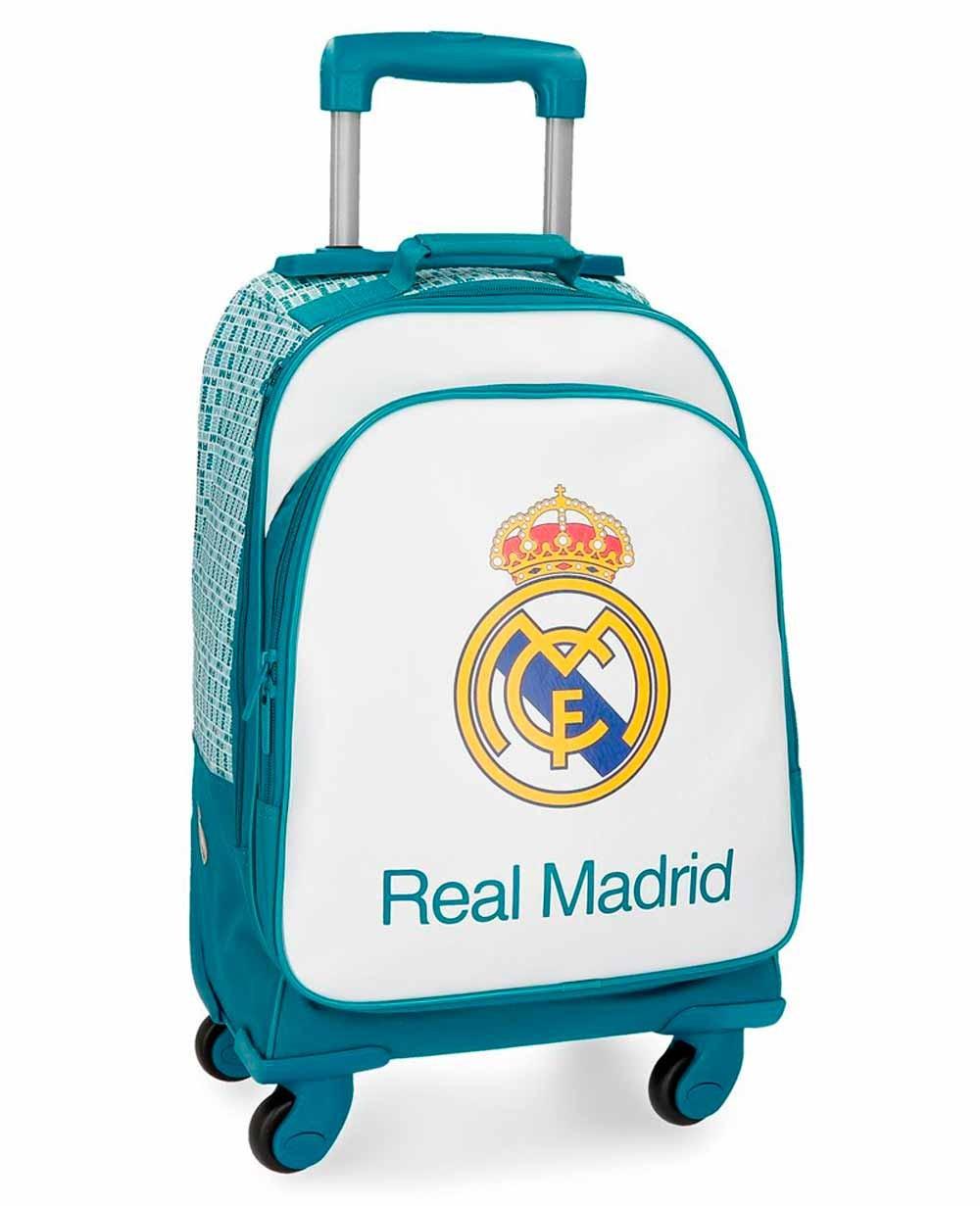 Real Madrid Leyenda Trolley convertible en mochila con ruedas Azul Pacífico (Foto )