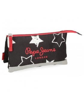 Estuche Pepe Jeans Jessa Negro - 22cm | Maletia.com