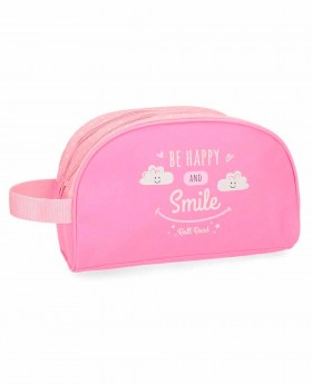 Neceser Roll Road Happy Rosa - 26cm | Maletia.com