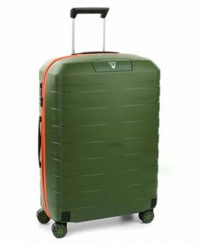 Maleta mediana Roncato Box 2.0 Verde/Naranja - 69cm | Maletia.com