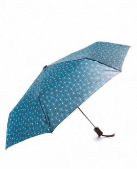 C-Collection Paraguas plegable automático Azul 0