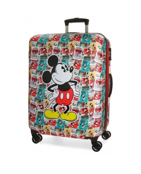 Maleta mediana Disney Mickey Stars Multicolor - 69cm | Maletia.com
