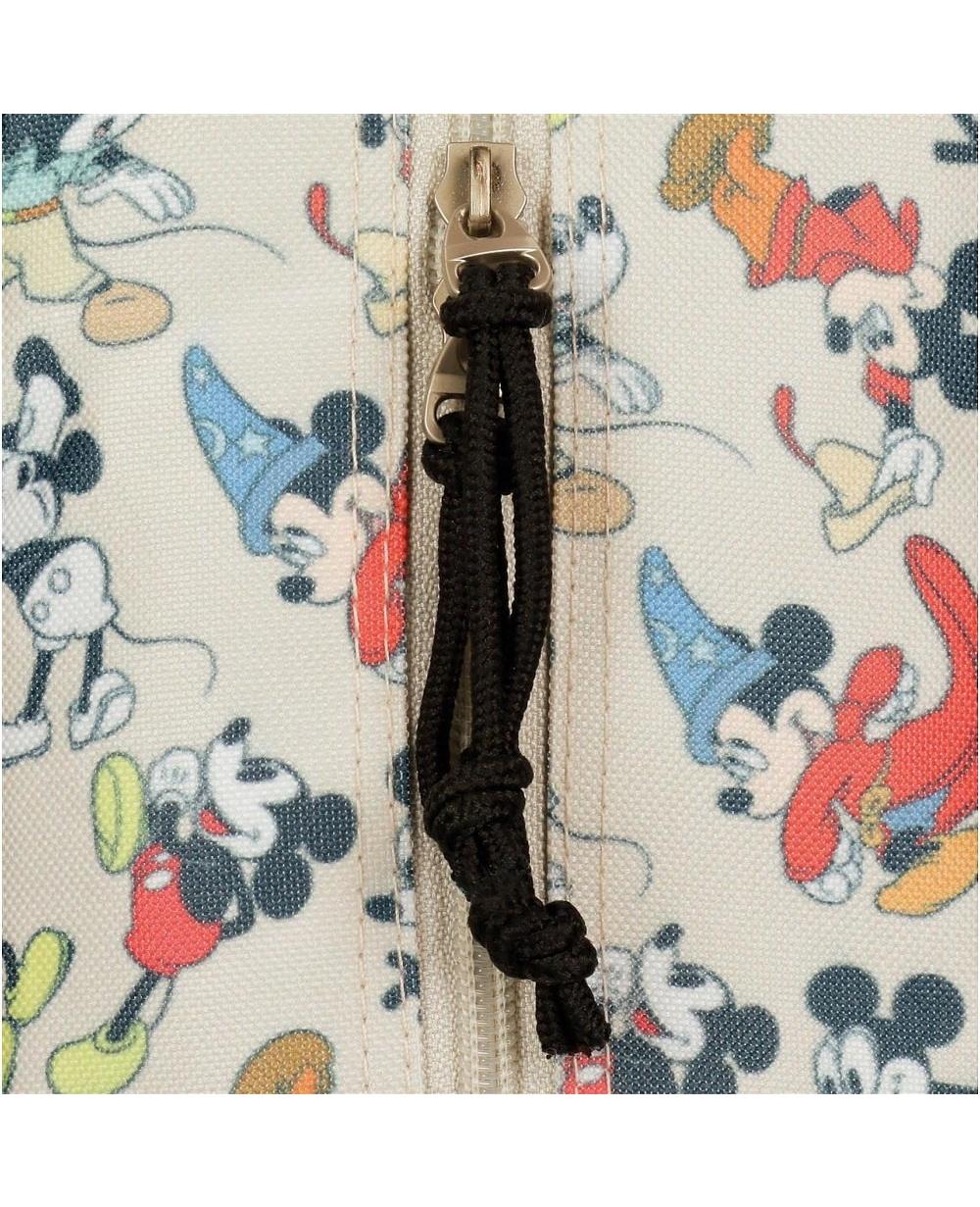 Mickey True Mochila con carro Blanca (Foto )