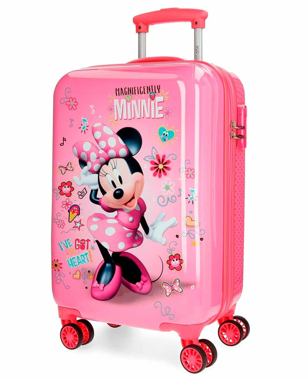 Disney Minnie Stickers Maleta de mano Rosa (Foto )