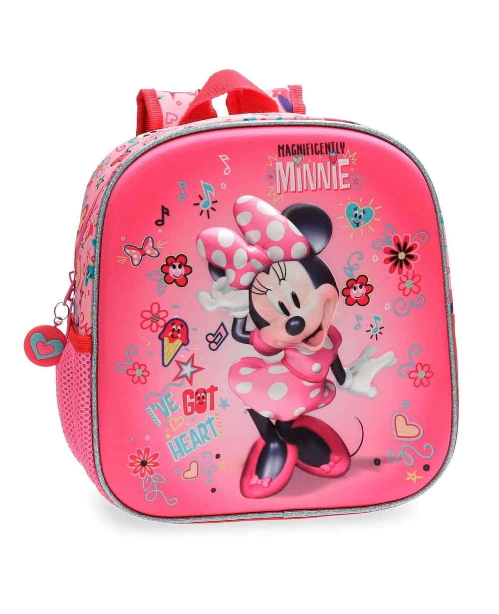 Minnie Stickers Mochila preescolar Rosa (Foto )