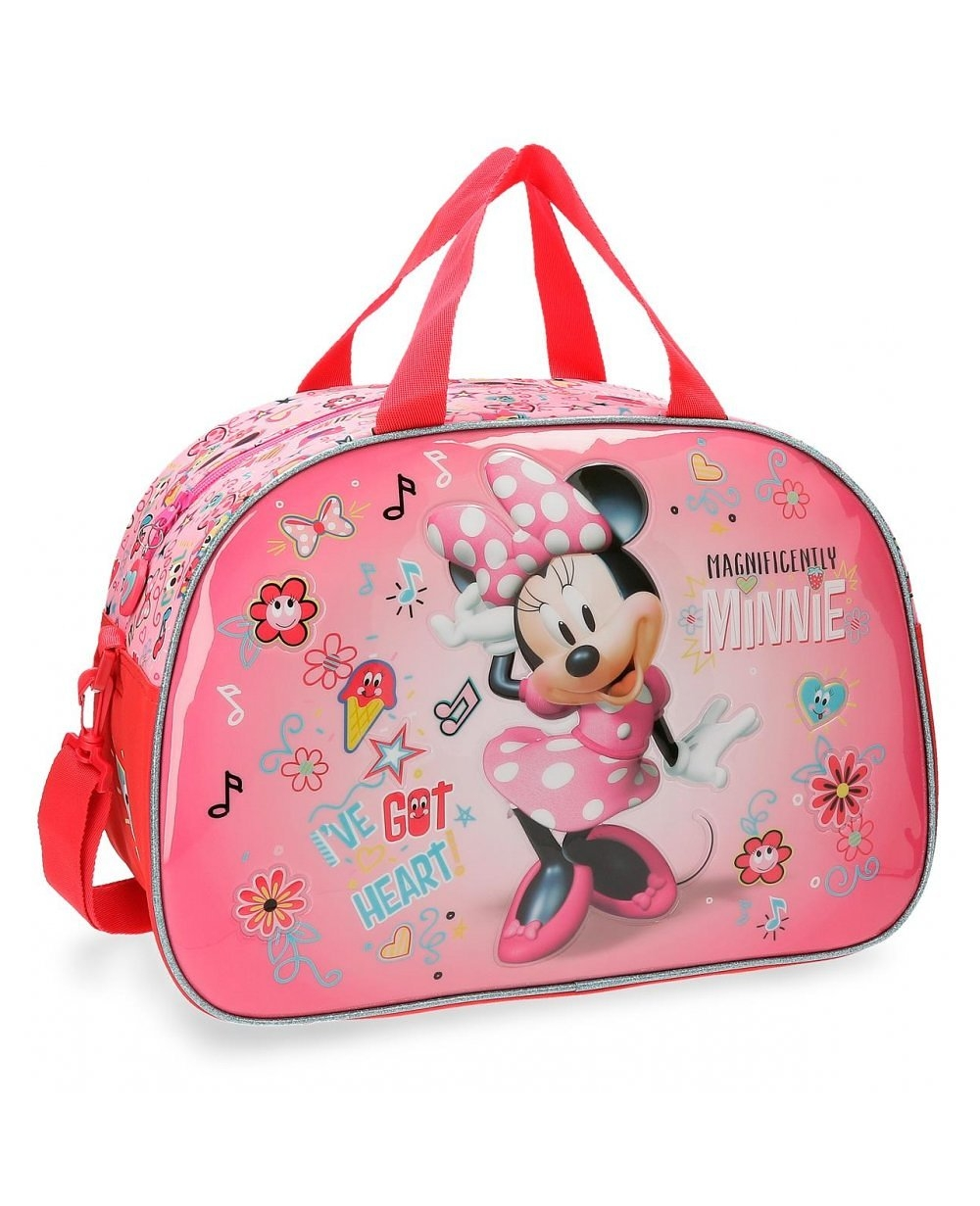 Disney Minnie Stickers Bolsa de viaje Rosa (Foto )
