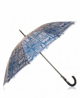 Paraguas Lois Largo automático Azul Estampado - 86cm | Maletia.com