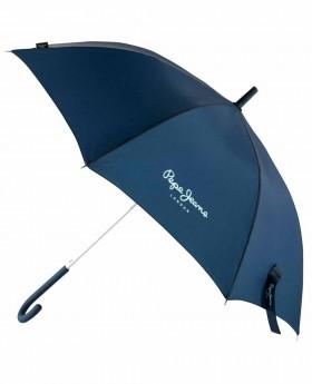 Paraguas Pepe Jeans Holloway Largo Azul Marino - 95cm | Maletia.com