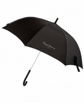 Paraguas Pepe Jeans Lenten Largo Negro - 96cm | Maletia.com