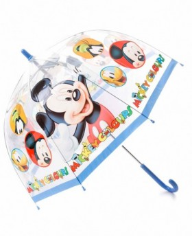 Paraguas Disney Mickey Largo manual Azul - 65cm | Maletia.com