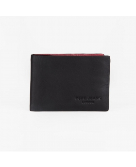 Cartera con monedero Pepe Jeans Colorful Negro - 12cm | Maletia.com