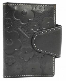 Tarjetero de piel Amichi Búfalo Negro - 10cm | Maletia.com