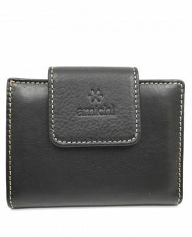 Tarjetero de piel Amichi Floater Negro - 10cm | Maletia.com