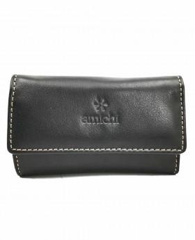 Llavero de piel Amichi Floater Negro - 10cm | Maletia.com