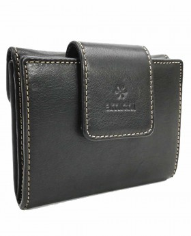 Monedero billetero de piel Amichi Floater Negro - 11cm | Maletia.com