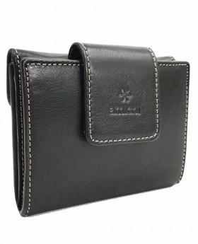 Monedero billetero de piel Amichi Floater Negro - 11cm | Maletia.com