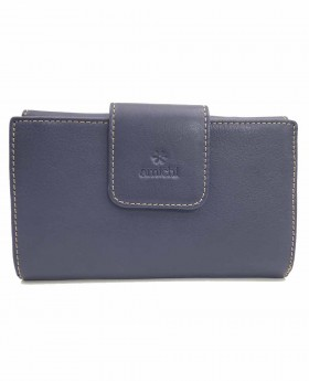 Monedero billetero de piel Amichi Floater Azul - 16cm | Maletia.com