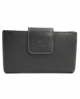 Monedero billetero de piel Amichi Floater Negro - 16cm | Maletia.com
