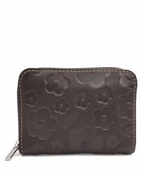 Monedero de piel Amichi Búfalo Marrón - 10cm | Maletia.com
