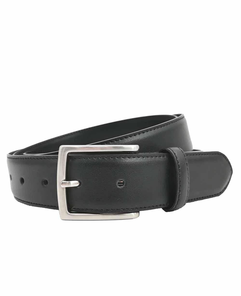 Dalvi Cinturón Talla Especial clásico Piel Negro 130 (Foto )