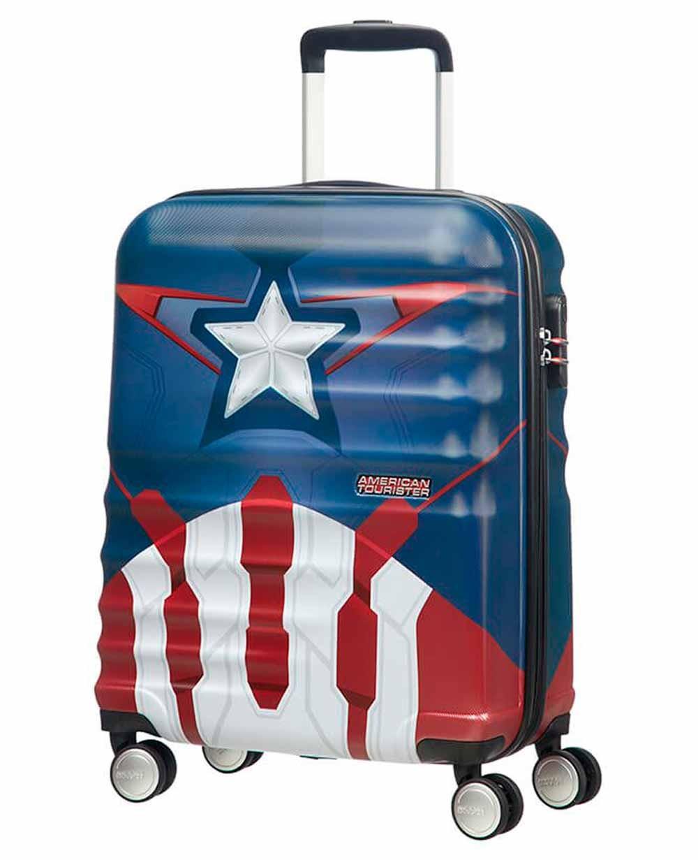 American Tourister Wavebreaker Capitán América Maleta de mano Azul (Foto )