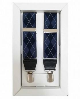 Tirantes Dalvi Rombos en Azul - 110cm | Maletia.com