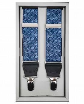 Tirantes de hombre Pertegaz Cuadros Azul - 110cm | Maletia.com