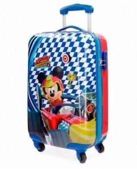 Maleta de mano Disney Mickey Racer Azul - 55cm | Maletia.com