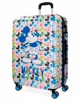 Maleta mediana Disney Mickey Colors Blanca - 69cm | Maletia.com