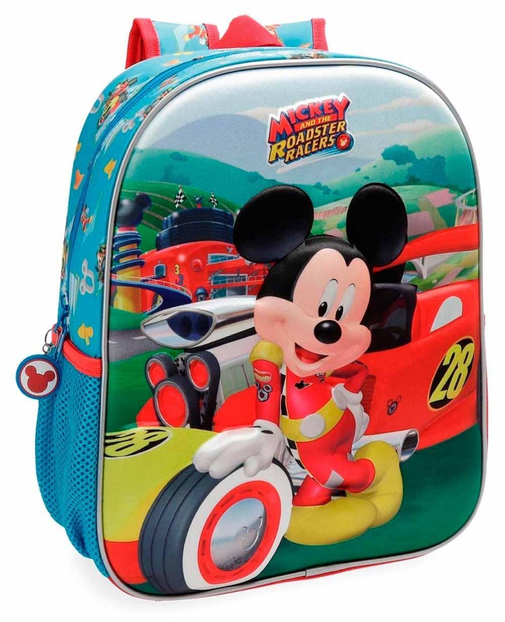 Mickey Roadster Mochila preescolar Azul (Foto )