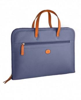 Portafolios de piel Rosme Buggy Azul - 40cm | Maletia.com