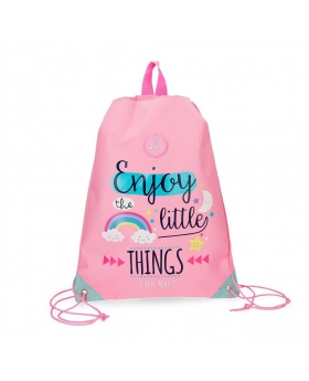 Gymsack Roll Road Little Things Rosa - 42cm | Maletia.com