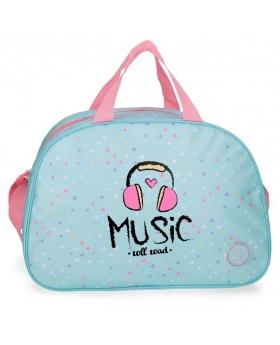 Bolsa de Viaje Roll Road Music Azul Pacífico - 40cm | Maletia.com