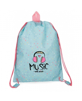 Gymsack Roll Road Music Azul Pacífico - 40cm | Maletia.com