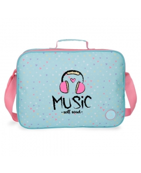 Carterón Roll Road Music Azul Pacífico - 38cm | Maletia.com