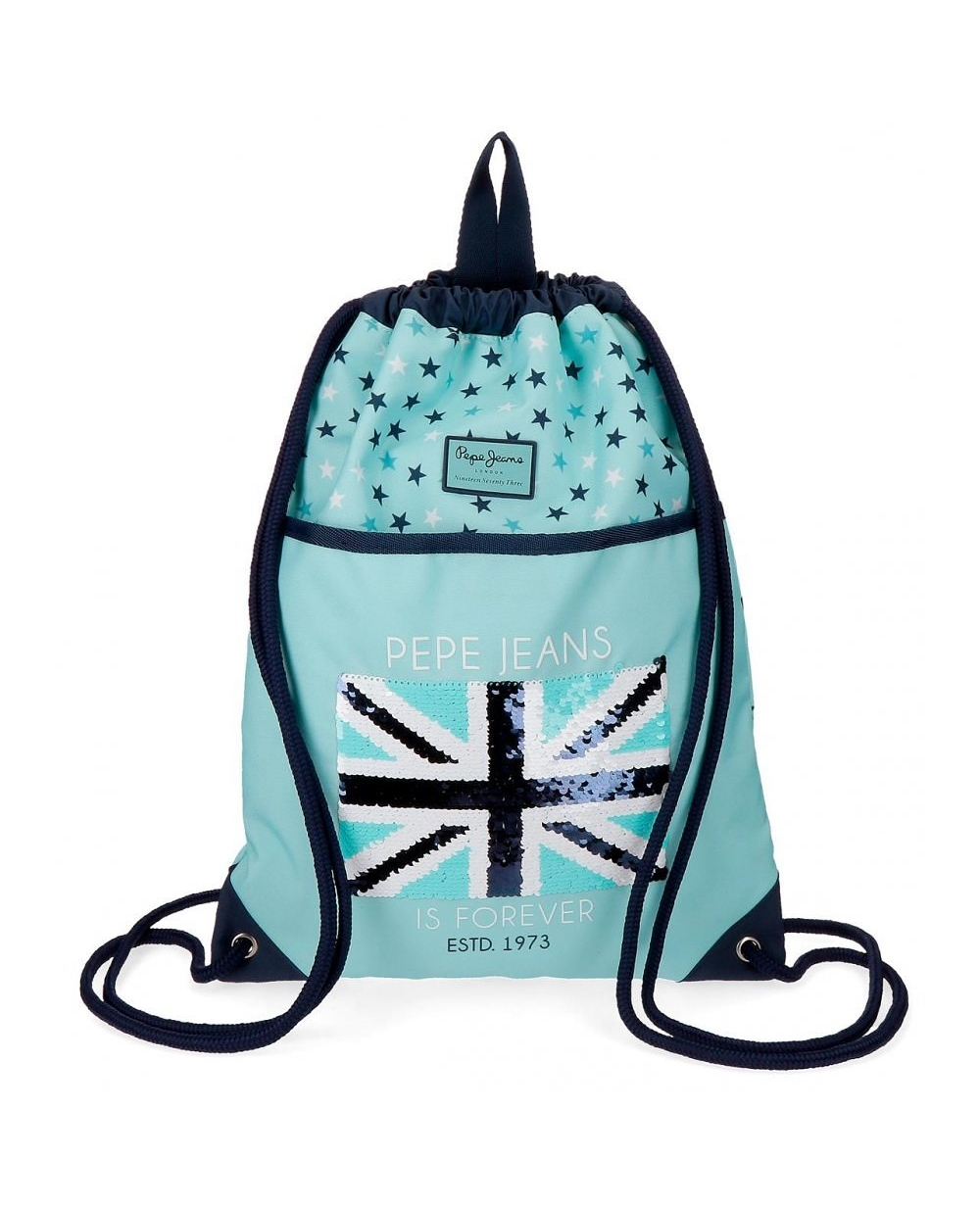Pepe Jeans Cuore Mochila Gymsack Azul Pacífico