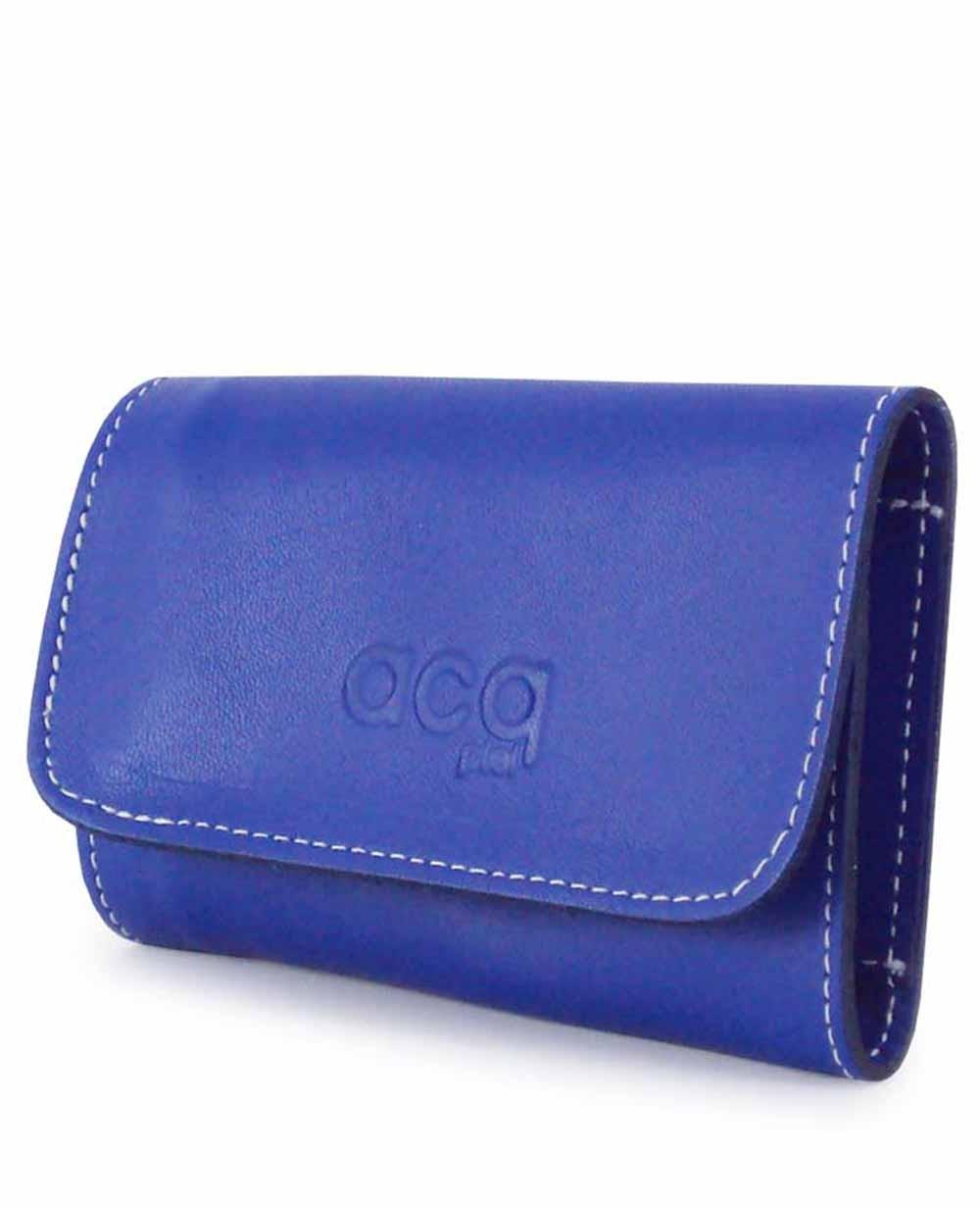Acq Llavero Piel Azul (Foto )