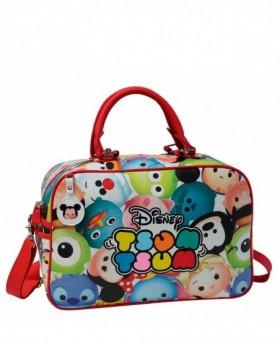 Bolsa de Viaje Disney Tsum Tsum Blanca - 37cm | Maletia.com