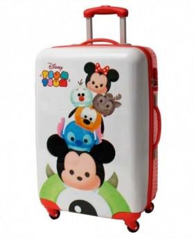 Maleta mediana Disney - Tsum Tsum Stack Blanco | Maletia
