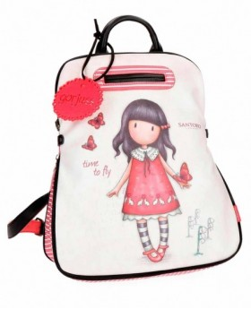 Mochila de día Gorjuss Time to Fly Blanca - 38cm | Maletia.com
