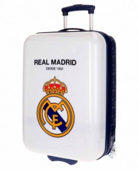 Maleta de mano Real Madrid Hala Madrid Blanco - 55cm | Maletia.com