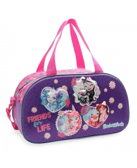 Bolsa de viaje  In the Woods  frontal 3D Enchantimals Morado 44cm | Maletia.com