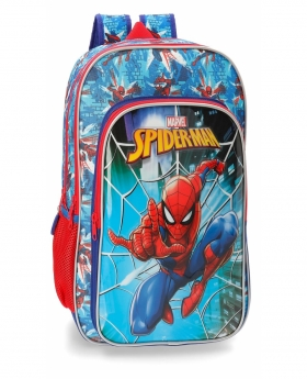 Spider-Man Mochila doble compartimento adaptable a carro Spiderman Street Multicolor - 1