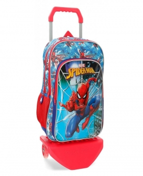 Spider-Man Mochila doble compartimento con carro Spiderman Street Multicolor - 1