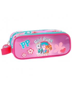 Patrulla Canina Neceser doble compartimento La  Girls Pups Rosa - 1
