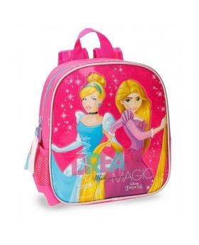 Princesas Mochila preescolar  Disney Rosa - 1