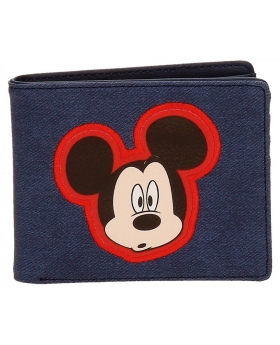 Mickey Mouse Cartera Mickey Parches Azul - 1
