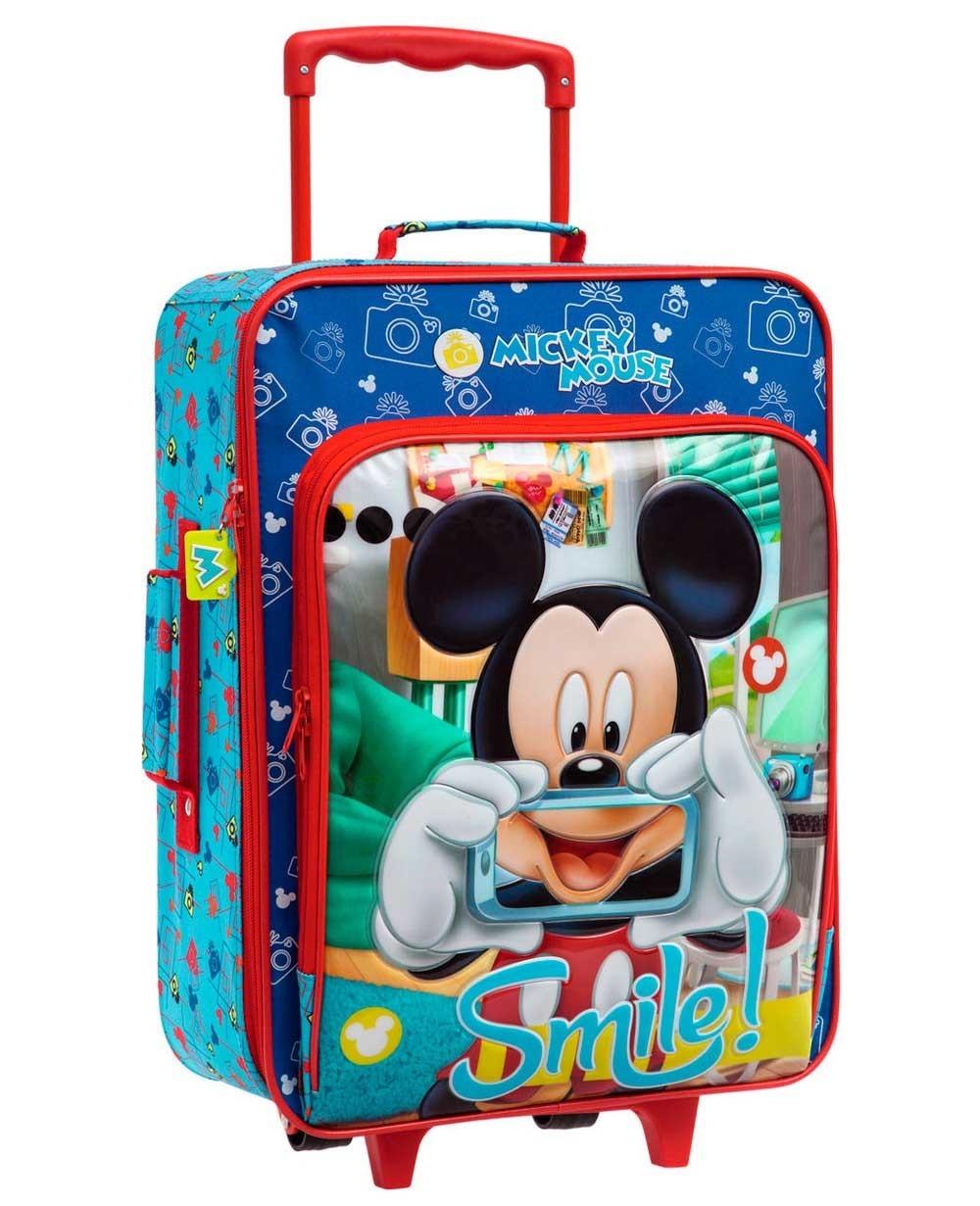 Disney Mickey Smile Maleta de mano Azul (Foto )